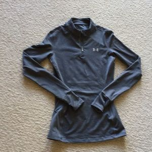 Under Armour grey top, excellent condition!